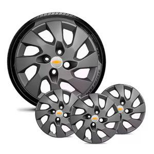 Jogo-4-Calota-GM-Celta-Corsa-Onix-Prisma-Classic-Montana-Cobalt-Kadett-Monza-Astra-Chevelle-Chevette-Ipanema-Meriva-Sonic-Spin-Vectra-Aro-13-Grafite-Fosco-Emblema-Prata