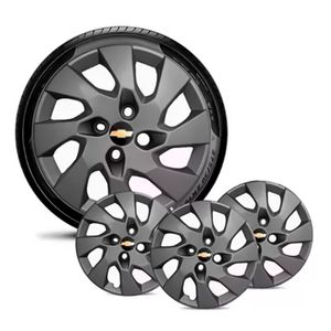 Jogo-4-Calota-GM-Celta-Corsa-Onix-Prisma-Classic-Montana-Cobalt-Kadett-Monza-Astra-Chevelle-Chevette-Ipanema-Meriva-Sonic-Spin-Vectra-Aro-13-Grafite-Fosco-Emblema-Preto