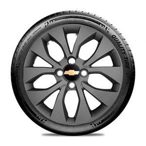 Calota-GM-Celta-Corsa-Onix-Prisma-Classic-Montana-Cobalt-Kadett-Monza-Astra-Chevelle-Chevette-Ipanema-Meriva-Sonic-Spin-Vectra-Aro-14-Grafite-Fosco-Emblema-Preto