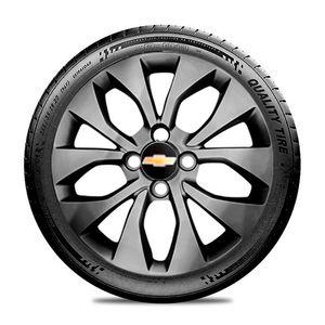 Calota-GM-Celta-Corsa-Onix-Prisma-Classic-Montana-Cobalt-Kadett-Monza-Astra-Chevelle-Chevette-Ipanema-Meriva-Sonic-Spin-Vectra-Aro-15-Grafite-Brillhante-Emblema-Preto