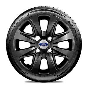 Calota-Ford-Ka-Fiesta-Ecosport-Courier-Escort-Focus-Verona-Versailes-Aro-14-Preta-Brilhante-Emblema-Prata