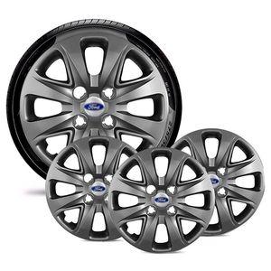 Jogo-4-Calota-Ford-Ka-Fiesta-Ecosport-Courier-Escort-Focus-Verona-Versailes-Aro-14-Grafite-Brilhante-Emblema-Prata
