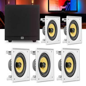 Kit-Home-Theater-5.1-JBL-Caixa-de-Embutir-CI6S---Sub-Stage-A100P-Residencial-Gesso-01